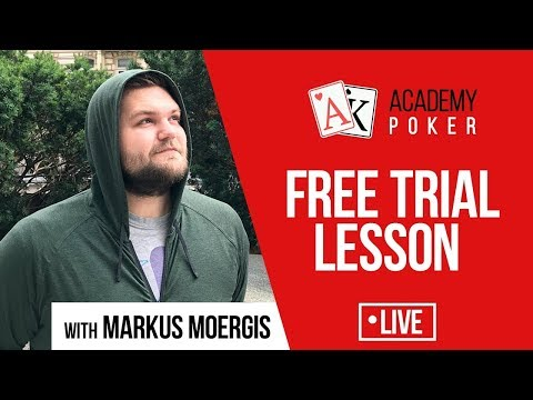 Free trial lesson of the Academy of Poker coach - Markus Moergis