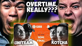 CHEZAME & SXIN React | UNITEAM vs KOTCHA | Grand Beatbox Battle 2019 | Tag Team Semi Final😱