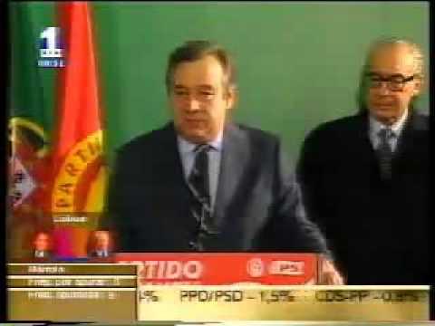 António Guterres demite-se de Primeiro-Ministro 16-12-2001 RTP1