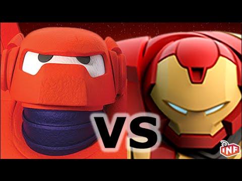 Baymax vs Hulkbuster sarlacc pit arena fight Disney Infinity toy box