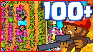 BTD Battles - 100+ Snipers just for fun