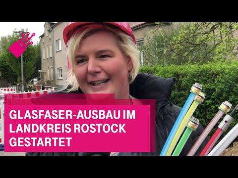 Social Media Post: Glasfaser-Ausbau im Landkreis Rostock gestartet
