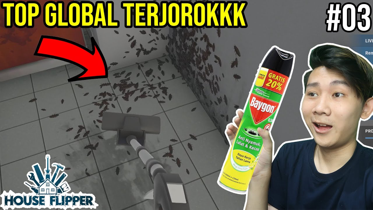 (03) TOP GLOBAL RUMAH TERJOROK SEJAGAD  - House Flipper Indonesia