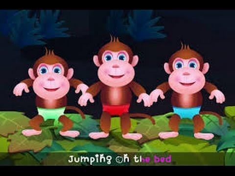 Three Little Monkeys Jumping On The Bed I Nursery Rhymes I ...
