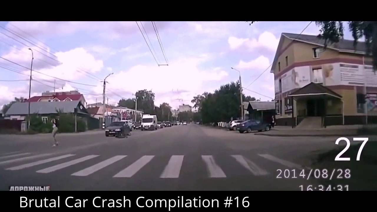 Brutal Car Crash Compilation 16 Youtube