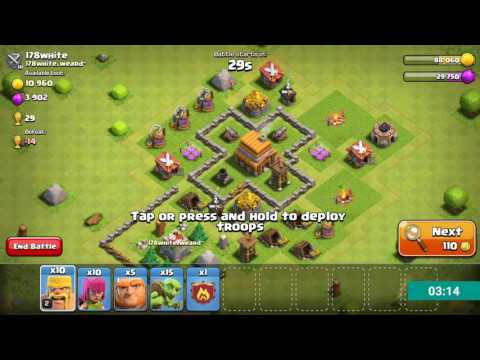 Clash Of Clans Attack By Level 3 Valkyrie And Level 7 Balloons