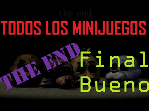Todos los minijuegos de Five Nights at Freddy's 3 l FINAL BUENO
