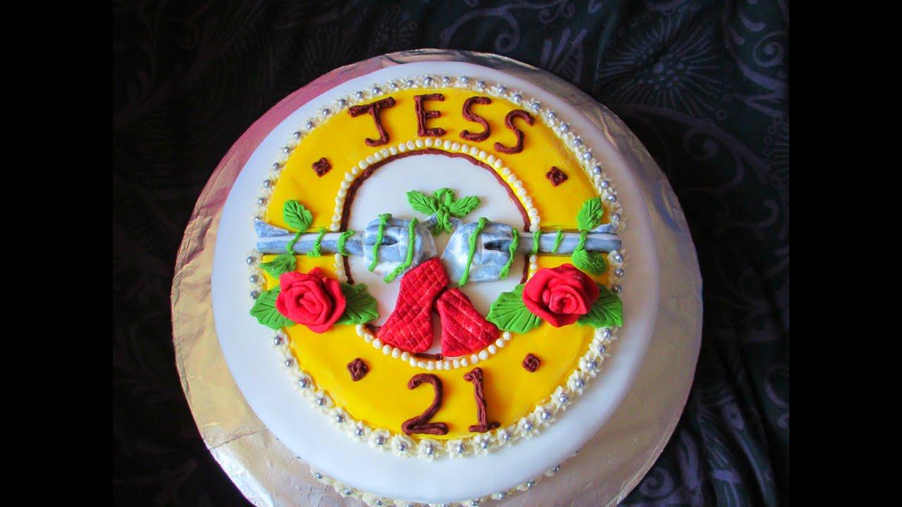 Guns N Roses Birthday Cake Youtube