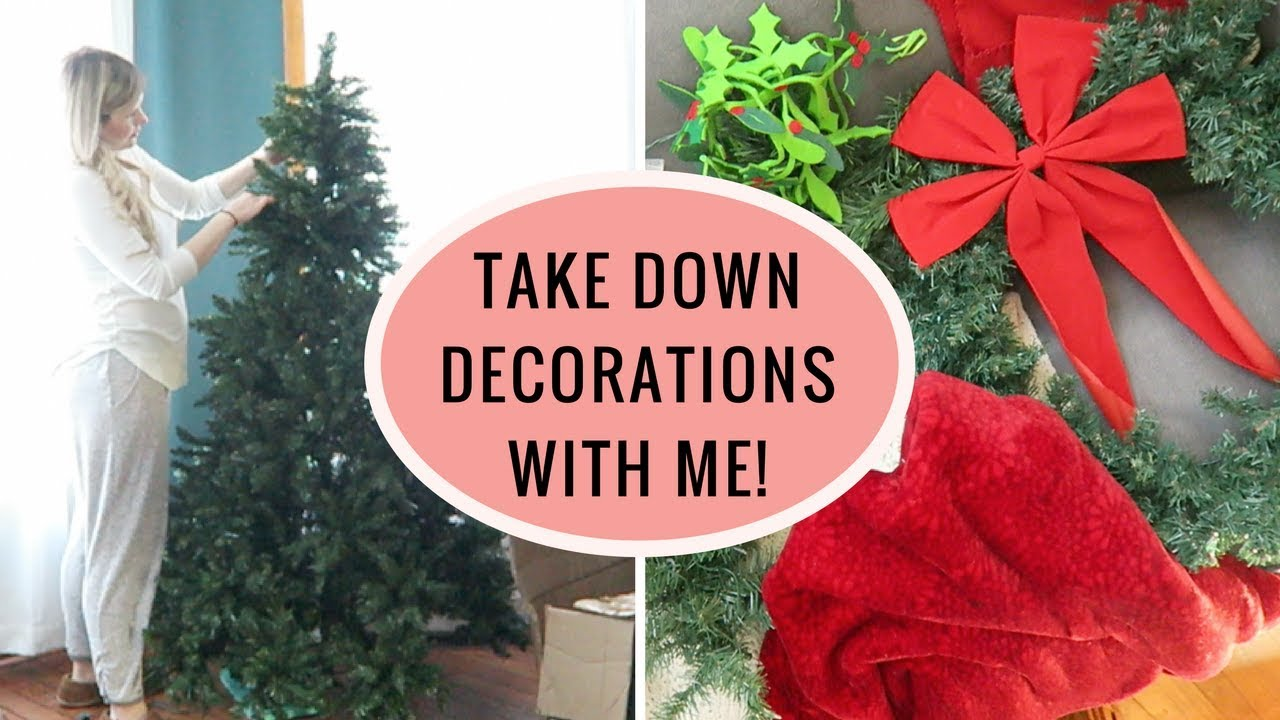 taking down and organizing christmas decorations speed clean with me 2018
