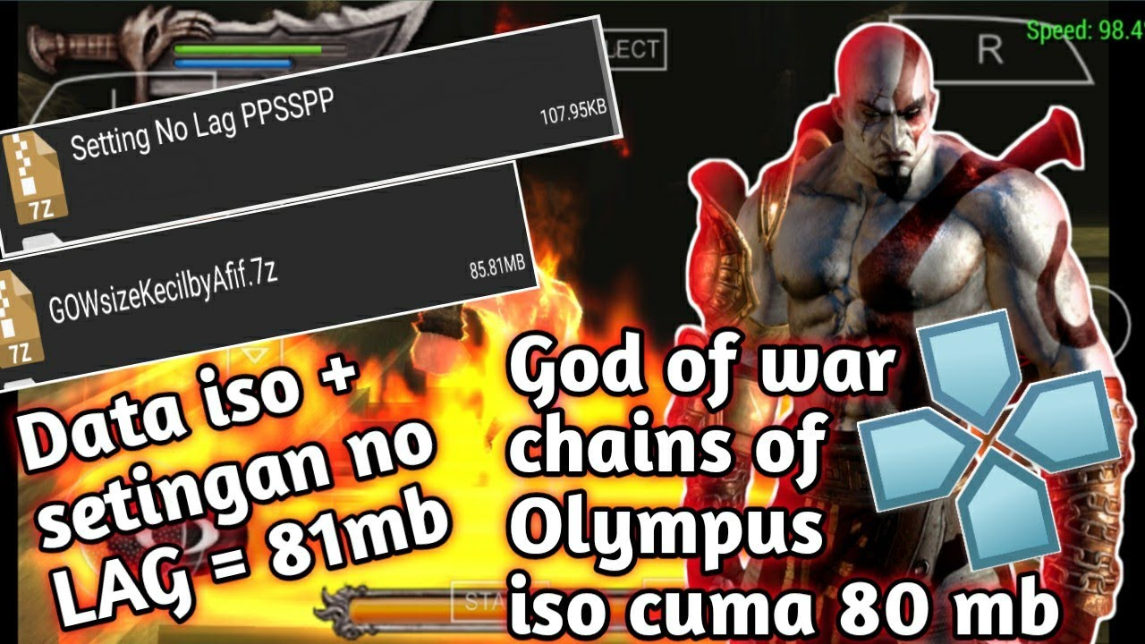 mudah sekali download game ppsspp iso android - god of war chains of Olympus