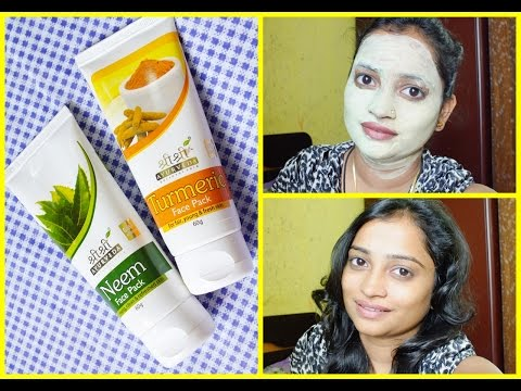 Shri Shri Ayurveda NEEM and TURMERIC FACE PACK Review | Affordable Face Packs in India | CLEAR FACE