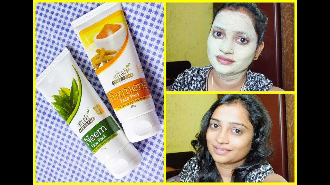 Shri Shri Ayurveda NEEM and TURMERIC FACE PACK Review  Affordable Face  Packs in India  CLEAR FACE