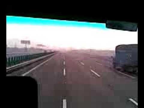 Ningbo Shanghai highway driving Matin