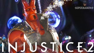 Скачать HELLBOY S LEGENDARY ABILITY IS AWESOME Injustice 2 Hellboy Legendary Gear Gameplay