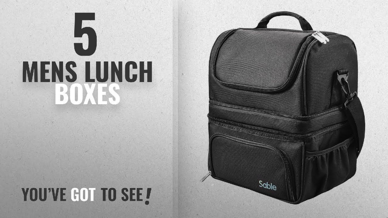 949b58370377 Best Mens Lunch Boxes [2018]: Lunch Box, Insulated Lunch Bag for Men &  Women, FDA Registered