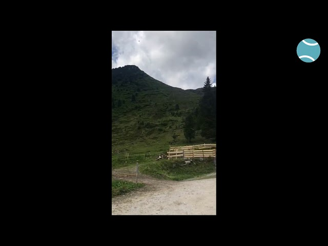Alison Van Uytvanck en Greet Minnen op vakantie in Tirol (Oostenrijk)