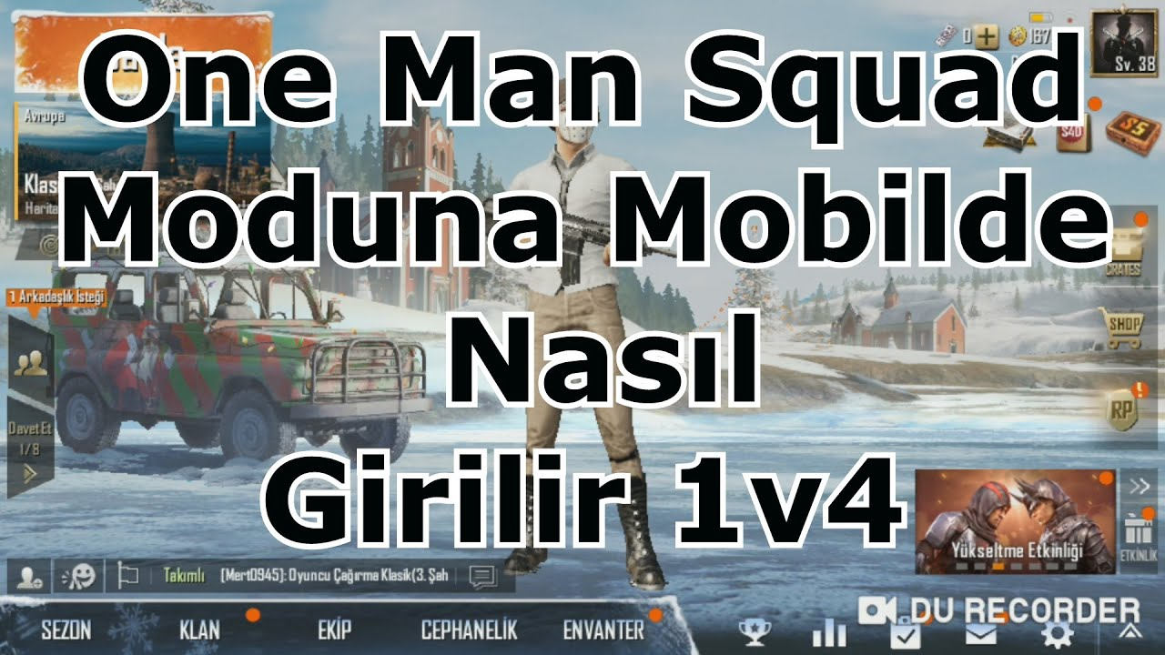 One Man Squad Moduna Mobilde nasıl girilir? Mobil PUBG