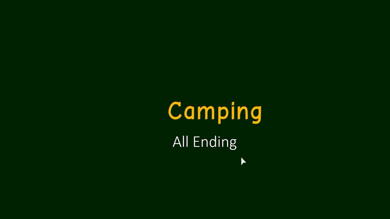 Roblox Camping All Endings Old Version Youtube