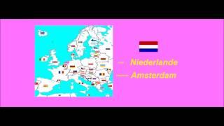 Die 28 EU-Länder, ihre Hauptstädte und Flaggen lernen.