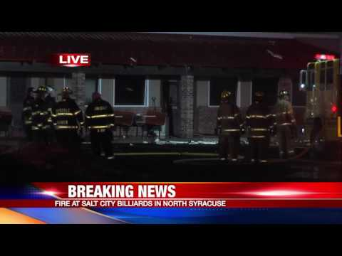 Fire at Salt City Billiards in North Syracuse: 2-8-17