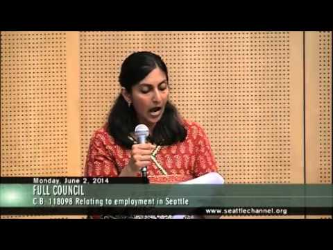 Seattle City Councilmember Kshama Sawant Minimum Wage Remarks