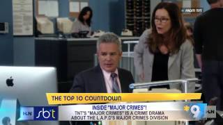 Showbiz Tonight Visits The Set of Major Crimes with Mary McDonnell