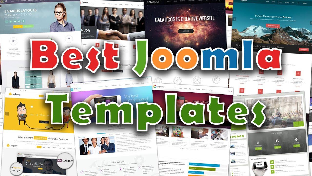 Best Joomla Templates 2016 Youtube