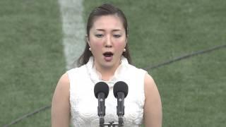 China and Japan National Anthems at the 2014 Asian 5 Nations Finale - Japan vs Hong Kong