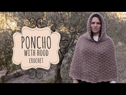 Tutorial Poncho With Hood Crochet Quick And Easy Youtube