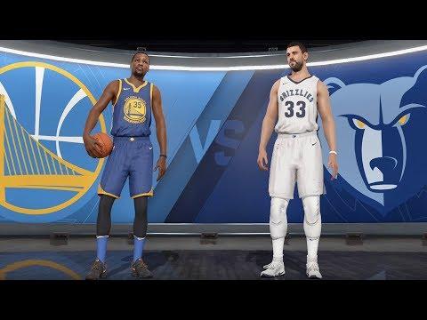 NBA Live 18 - Memphis Grizzlies vs Golden State Warriors - Gameplay (HD) [1080p60FPS]