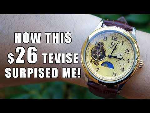 "Surprising value! Tevise ""Tourbillon"" Automatic 8466 Review c/o GearBest - Perth WAtch #126"