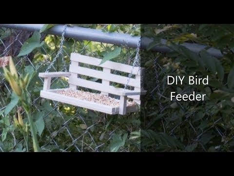 DIY Support Swing Bird Feeder