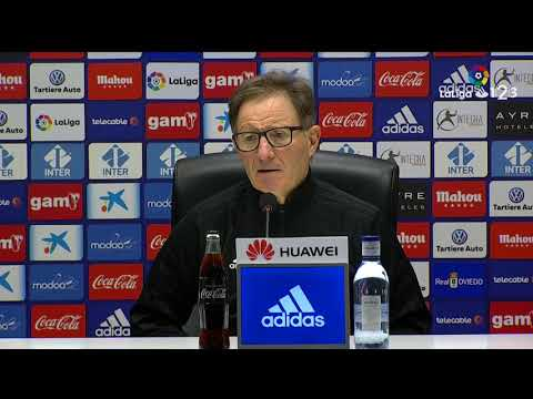 Rueda de prensa de Juan Antonio Anquela tras el Real Oviedo vs Albacete Balompié (0-0)