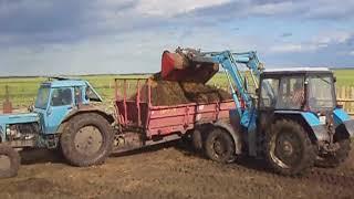 Техника чистки загонов и внесения навоза на поля