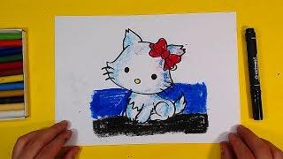 Развивающие видео урок рисования для детей / как нарисовать КОШКУ