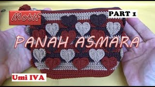 Tutorial Merajut Motif Panah Asmara  PART 1