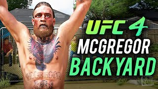 EA Sports UFC 4 - CONOR McGREGOR BACKYARD FIGHTS CPU vs CPU (RAW GAMEPLAY)