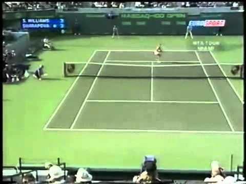 [HL] Maria Sharapova vs. Serena Williams 2004 Miami [R4]
