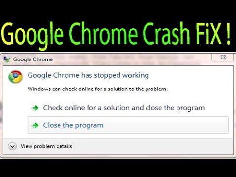 how to fix google chrome crash