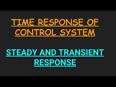 Time response of control system | transient response and steady state response | in  Hindi
