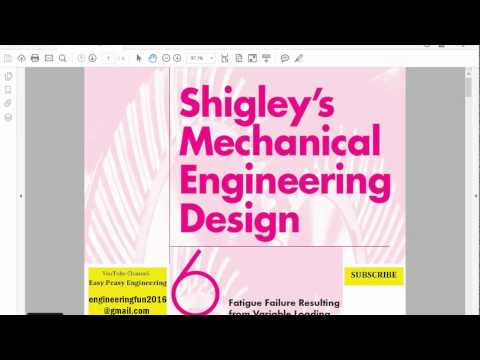 Mechanical Engineering Design, Shigley, Fatigue, Chapter 6