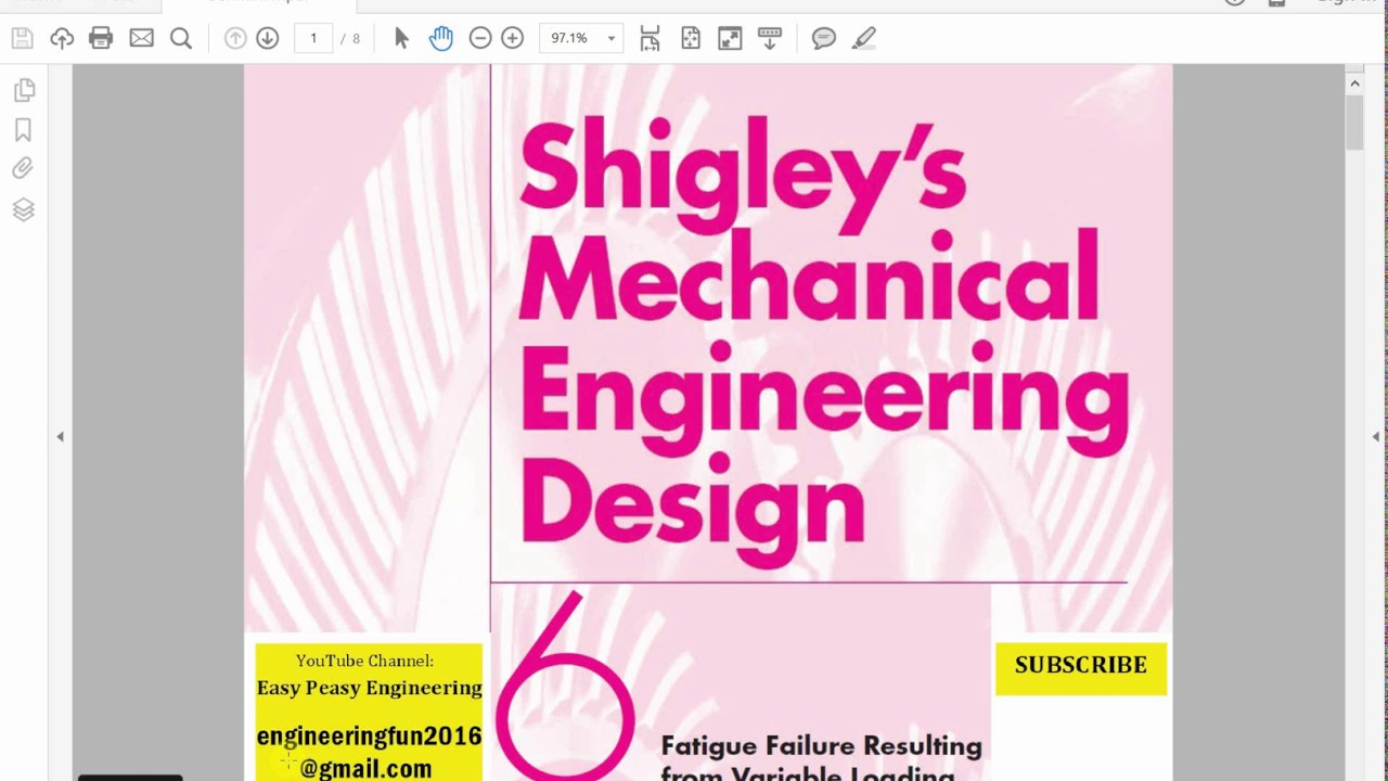 Mechanical Engineering Design Shigley Fatigue Chapter 6 Youtube