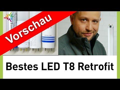 Der beste LED-Ersatz für T8 Leuchtstofflampe: LED T8 Retrofit Röhren im Vergleich - VORSCHAU