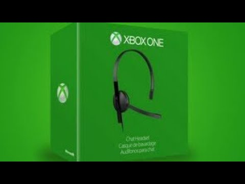 Xbox One Chat Headset Unboxing And Review