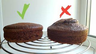 Секрет ровного бисквита 🌻 шоколадный бисквит на кипятке🌻 Flat cake secret #янабенрецепты