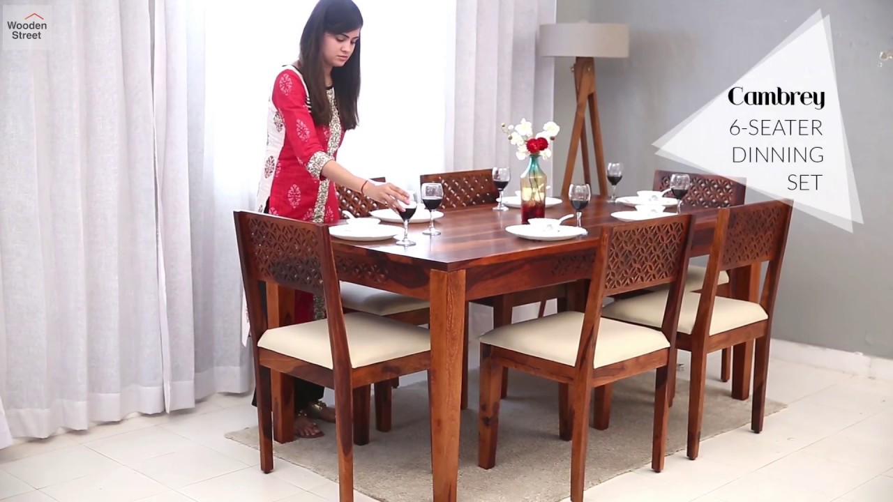 e53f1b0dff12 Cambrey 6 Seater Dining Set by WoodenStreet.com Starting From Rs 43,999