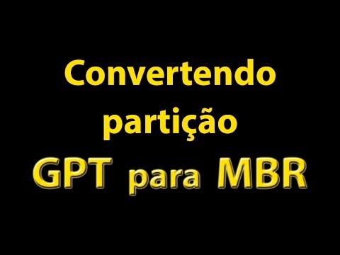 Partição GPT para MBR