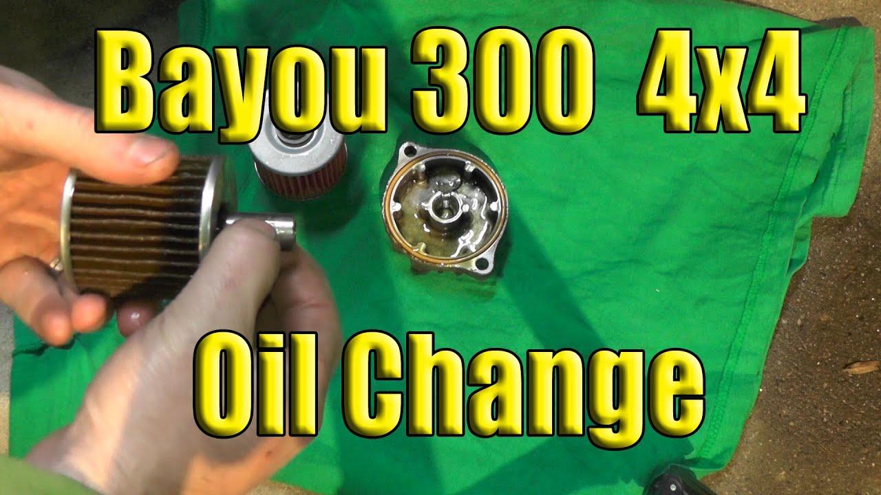 kawasaki bayou oil change 1989 2004 2x4 or 4x4 [ 1280 x 720 Pixel ]