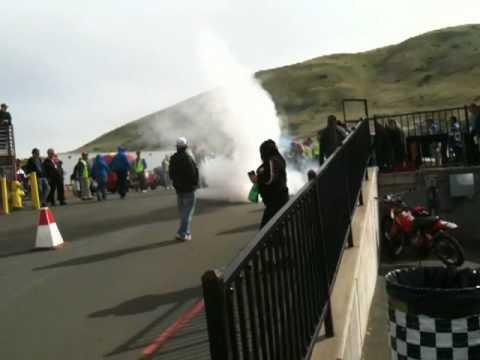 Eslick Burnout At Infineon Raceway 2010