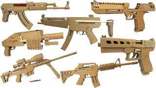 My Cardboard Arsenal - Glock, Ak47, Sniper, M4, Mp5 ect.